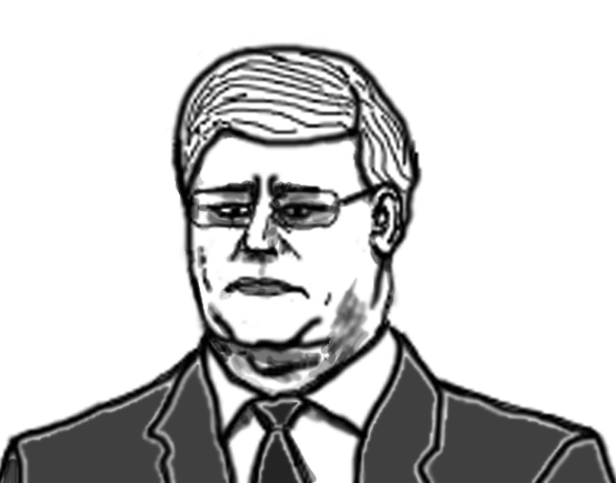 portrait of stephen harper photoshop